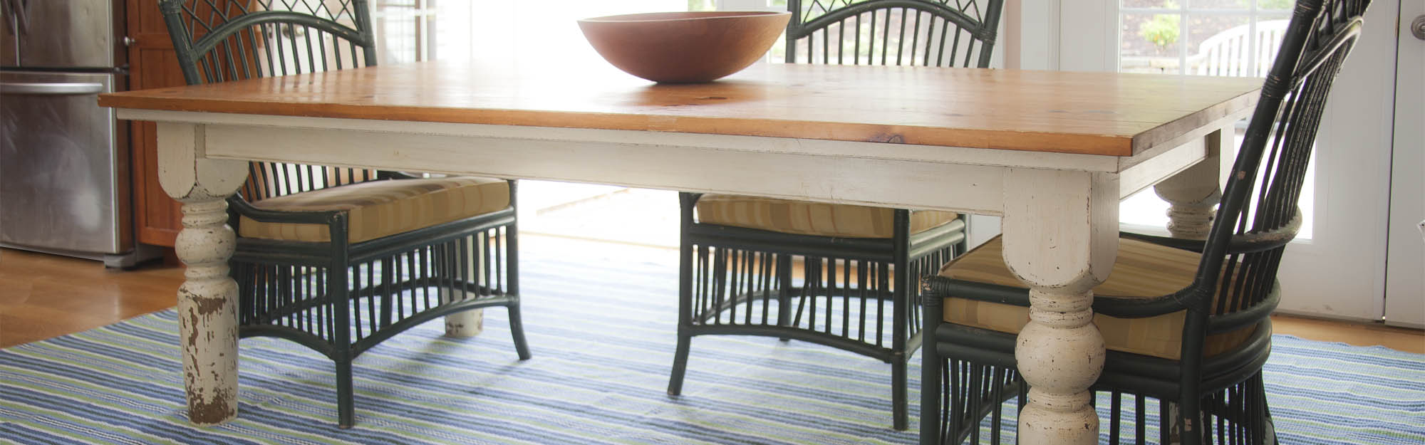 Alford Stripe under living room table