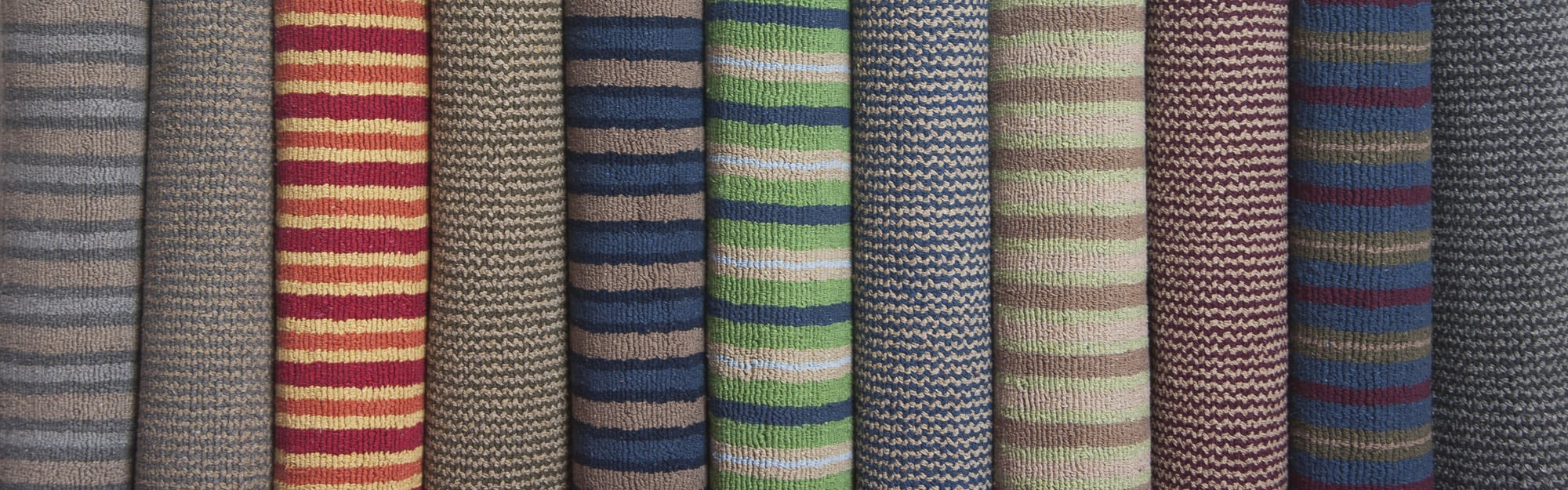 eco cotton loom hooked rugs rolled