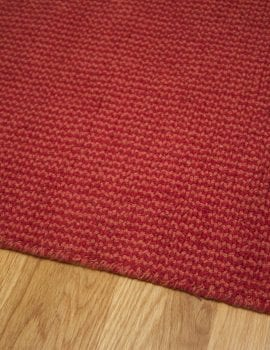 Crossweave Red/Orange Loom-Hooked