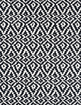 Oslo black white Loom hooked cotton Rug_FEAT