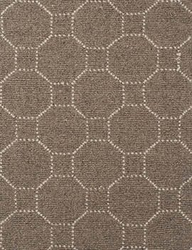 Piazza Heathered Taupe Natural Wool Loom-Hooked Rug_045FEAT
