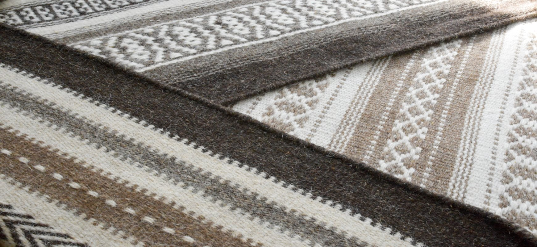 A trio of Flatweave Wool Rugs