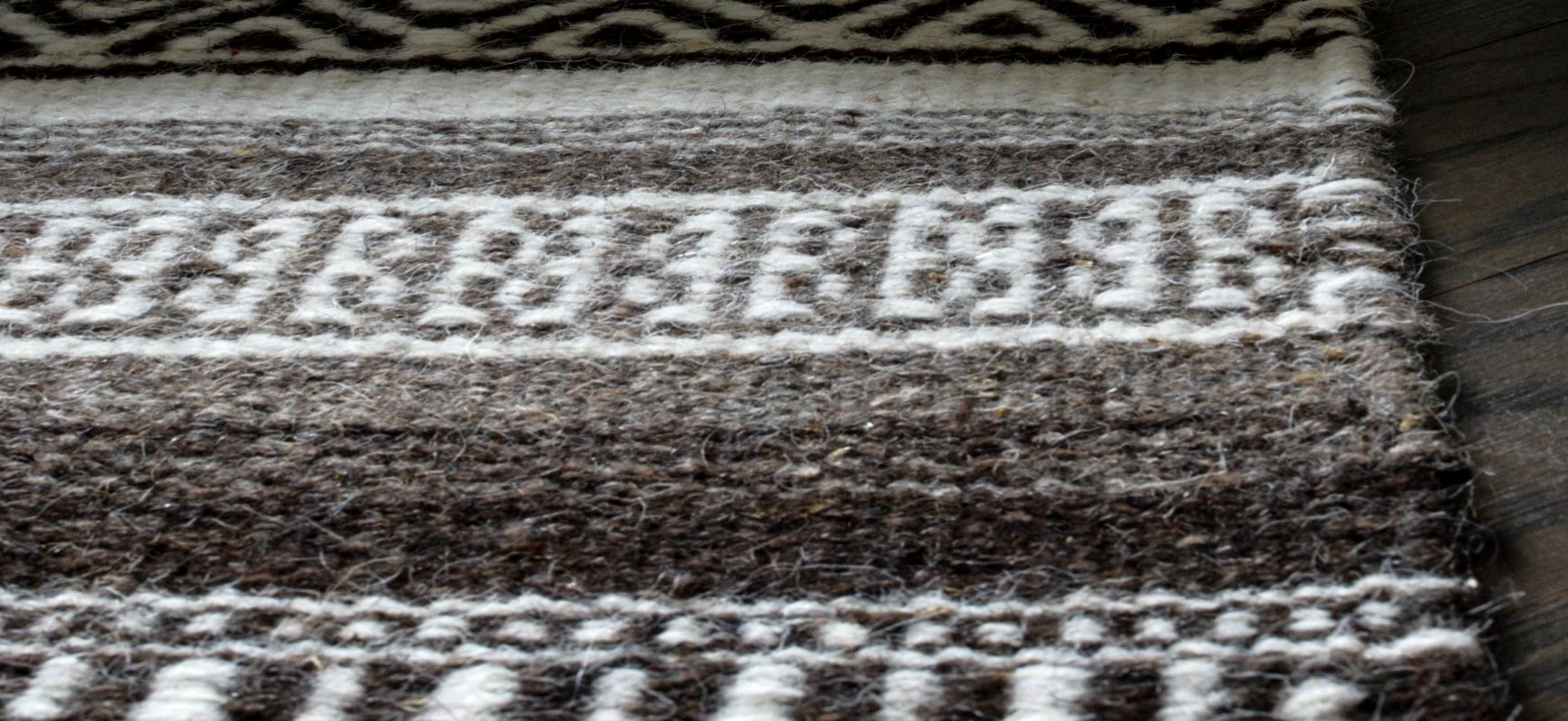 Closeup of Tunis Flatweave Wool Rug