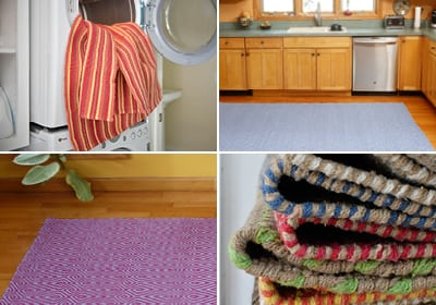 Hook Loom Cotton Rug Collage