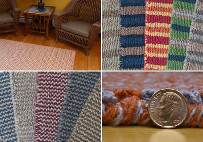 Hook & Loom Cotton Rug Collage