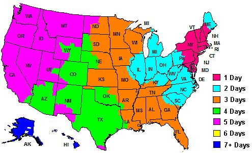 Fedex shipping map