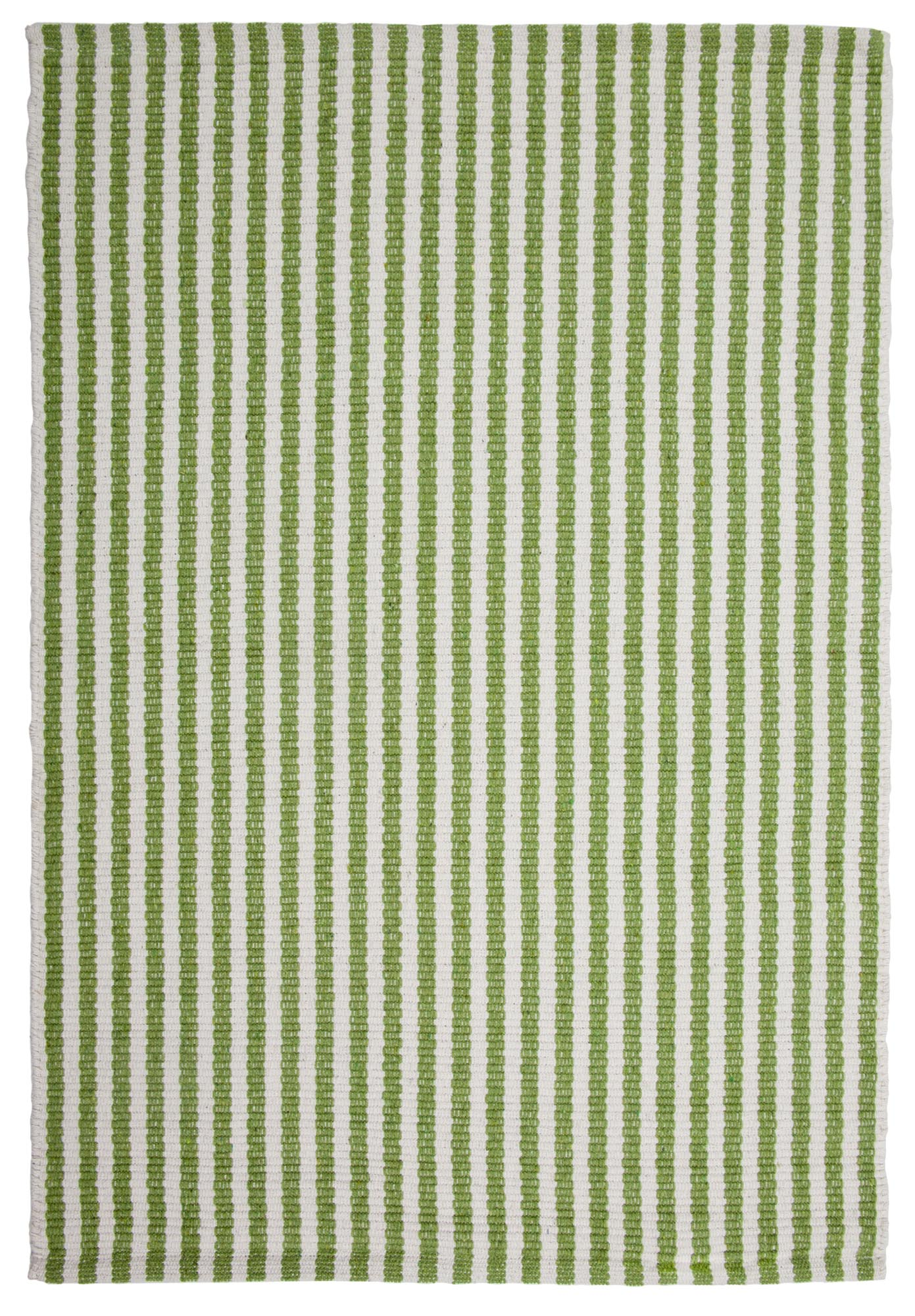 Chester Eco Cotton Rug Green White Hook Amp Loom