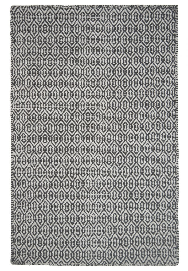 Deerfield Eco Cotton Rug Light Dark Grey Hook Amp Loom