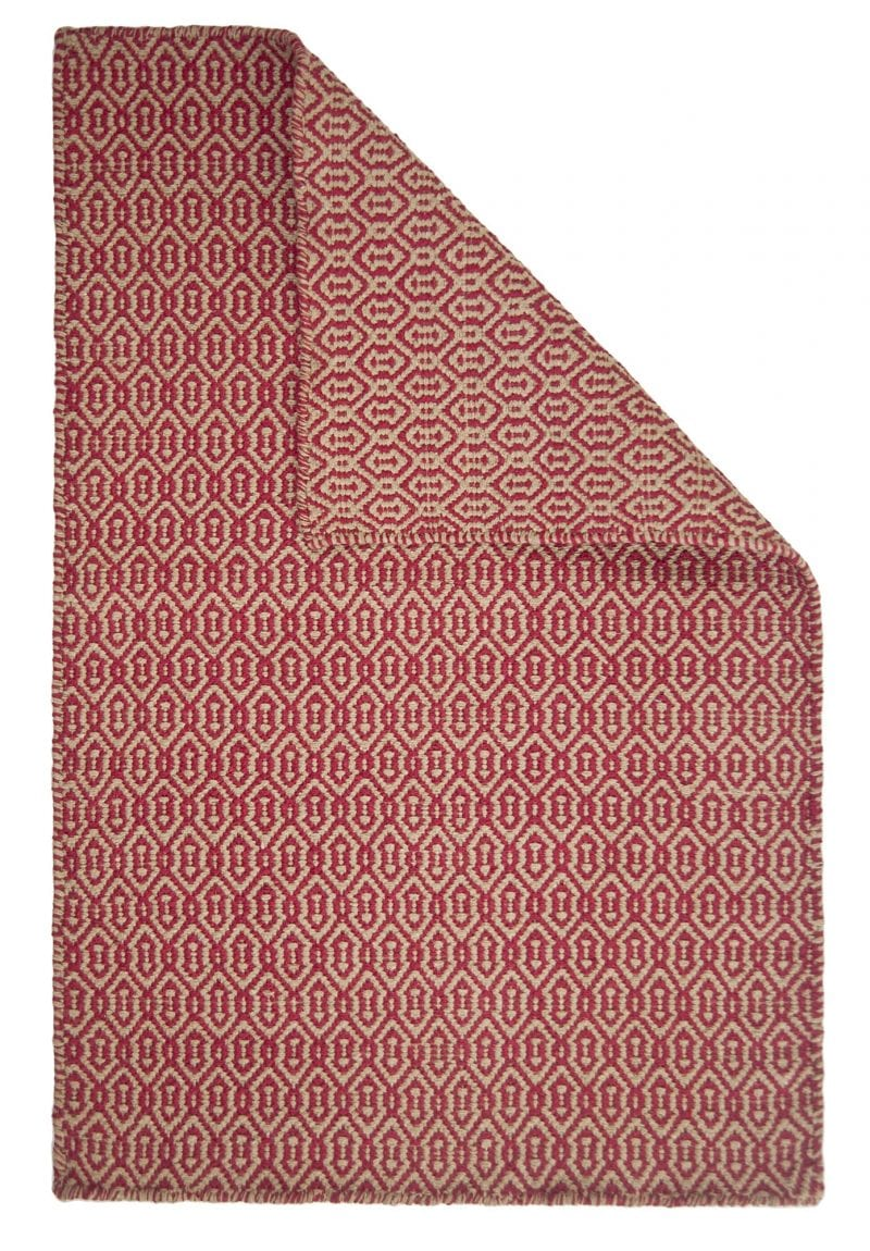 Deerfield Eco Cotton Rug Red Taupe Hook Amp Loom