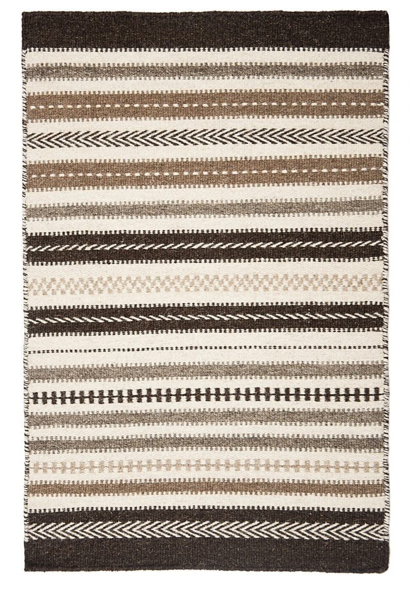 Icelandic Natural Wool Woven Rug Hook Amp Loom