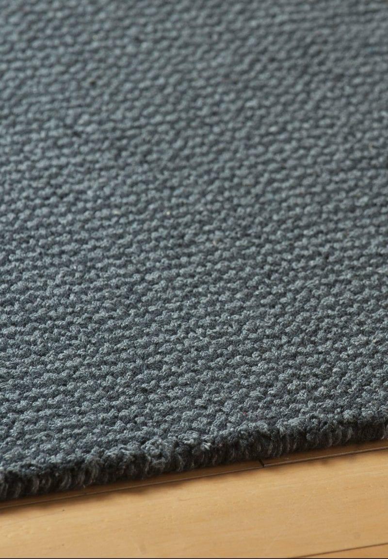 Crossweave Grey Eco Cotton Loom Hooked Rug