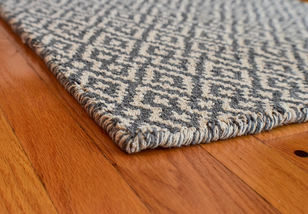 Barcelona Grey Natural Eco Cotton Loom Hooked Rug Hook
