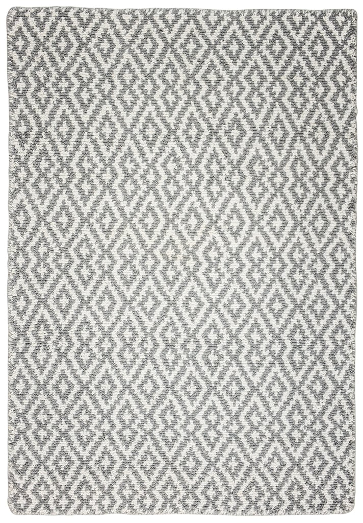 Grey/White Eco Cotton Loom-Hooked Rug