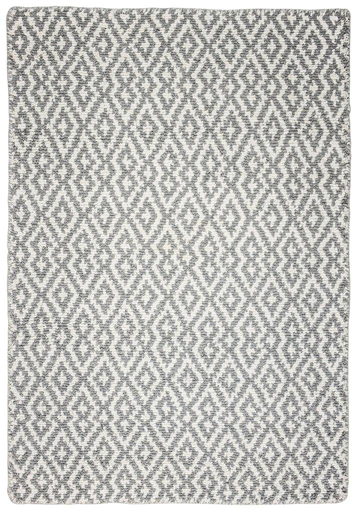 Barcelona Grey White Eco Cotton Loom Hooked Rug Hook