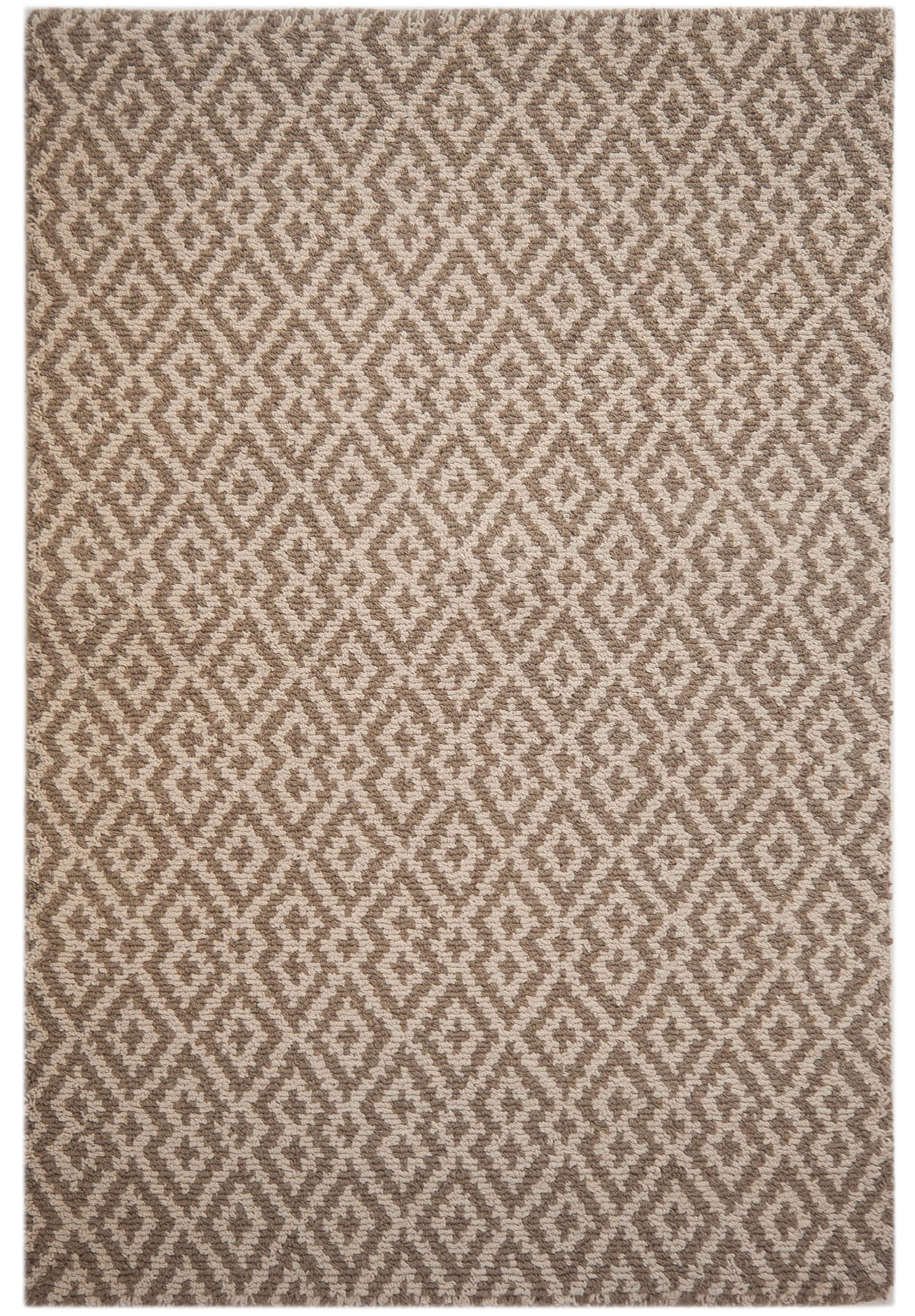 Barcelona Taupe Natural Eco Cotton Loom Hooked Rug Hook