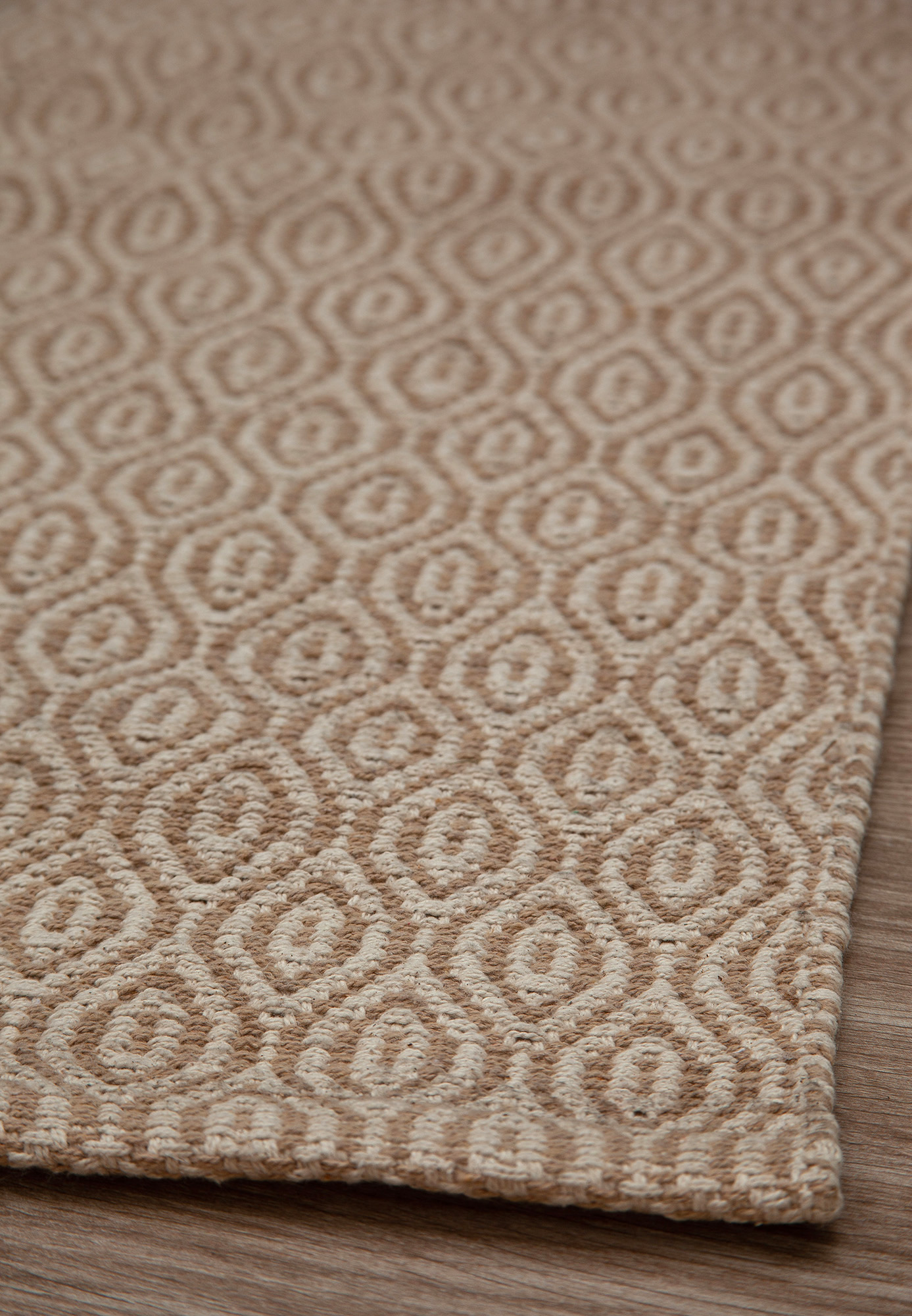 Brighton Eco Cotton Rug Taupe Natural Hook Loom