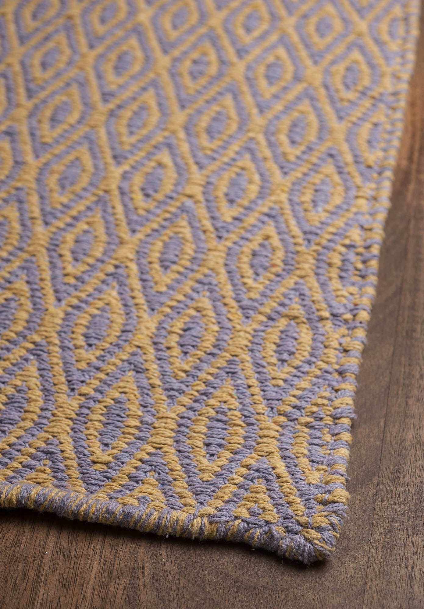 Chelsea Eco Cotton Rug Lavender Yellow Hook Amp Loom