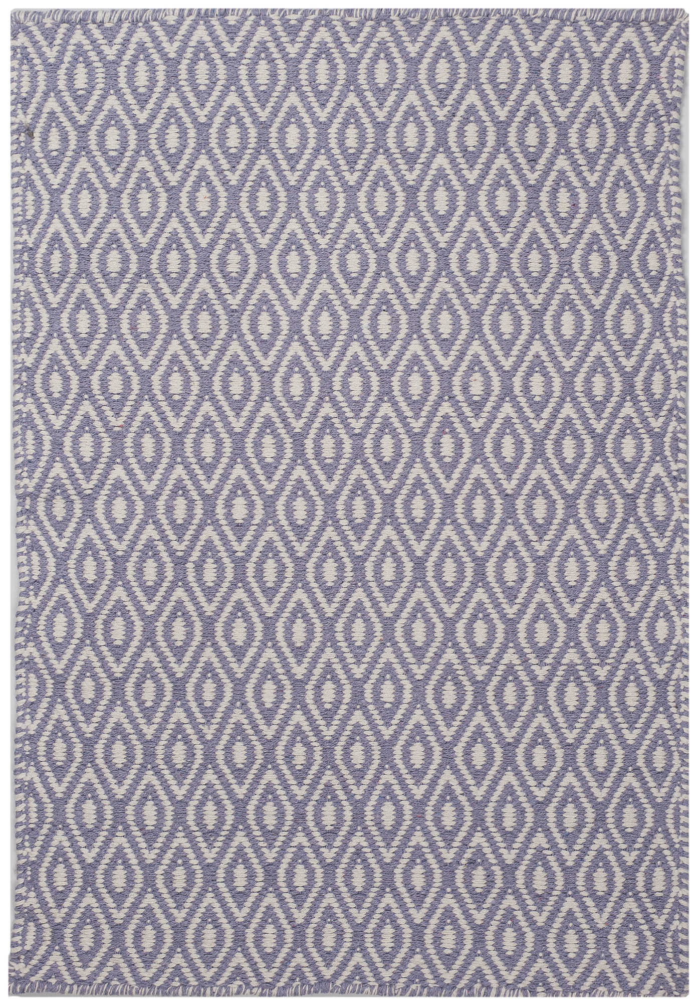 Chelsea Eco Cotton Rug White Lavender Hook Amp Loom