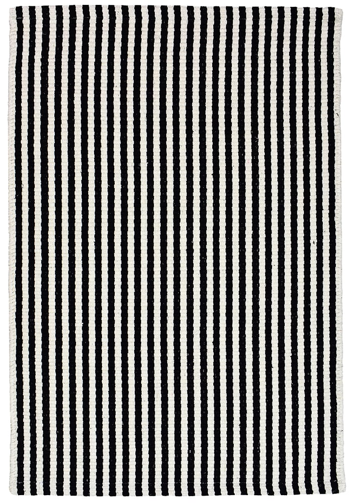 Picture of: Chester Eco Cotton Rug Black White Hook Loom