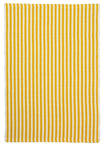 Chester Eco Cotton Rug Yellow White Hook Loom
