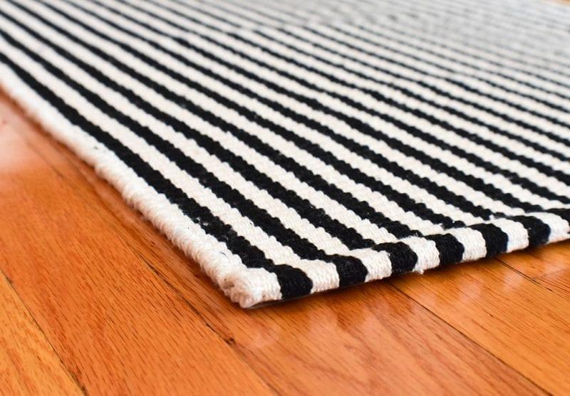 Chester Eco Cotton Rug Black White