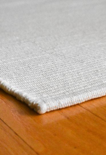 Solid White Flatweave Eco Cotton Rug Hook Amp Loom