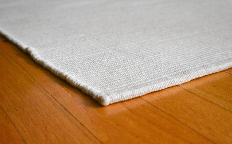 Solid White Flatweave Eco Cotton Rug Hook Amp Loom