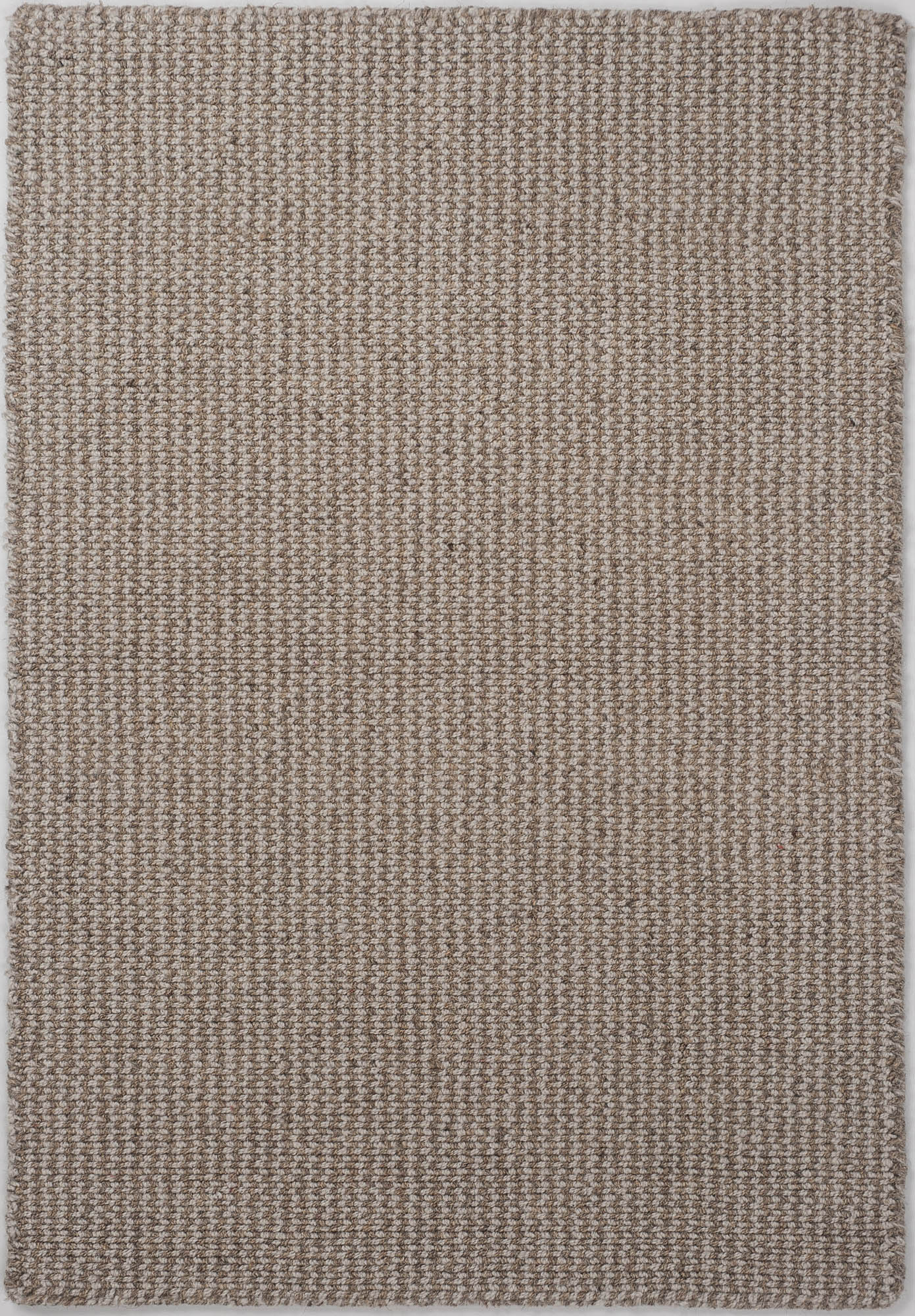 Crossweave Wool Silver Grey Natural Loom Hooked Rug Hook