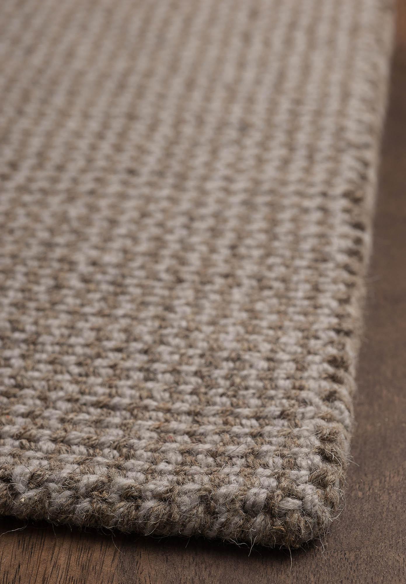 Crossweave Wool Silver Grey Natural Loom Hooked Rug Hook