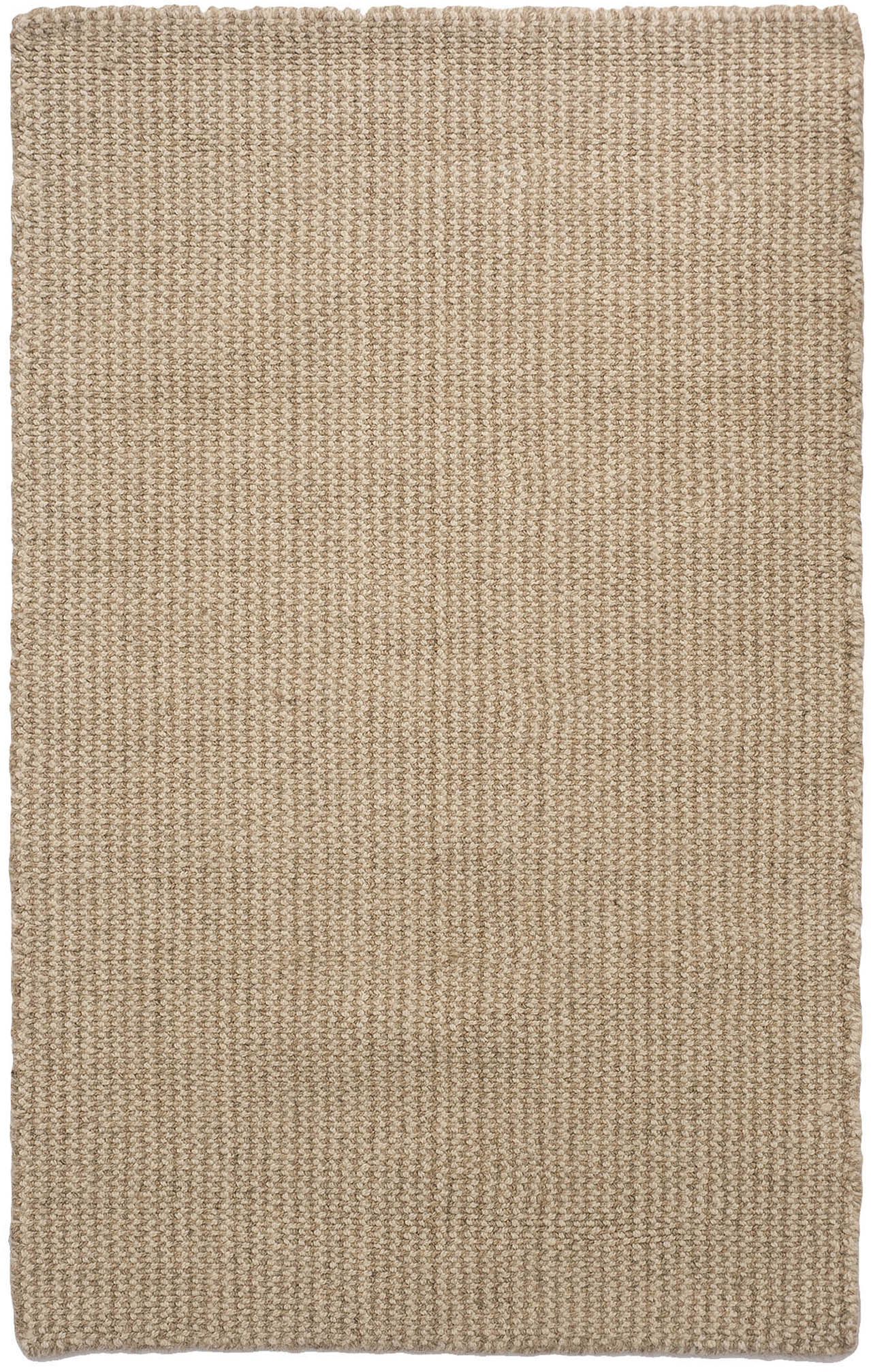 Crossweave Taupe Natural Wool Loom Hooked Rug