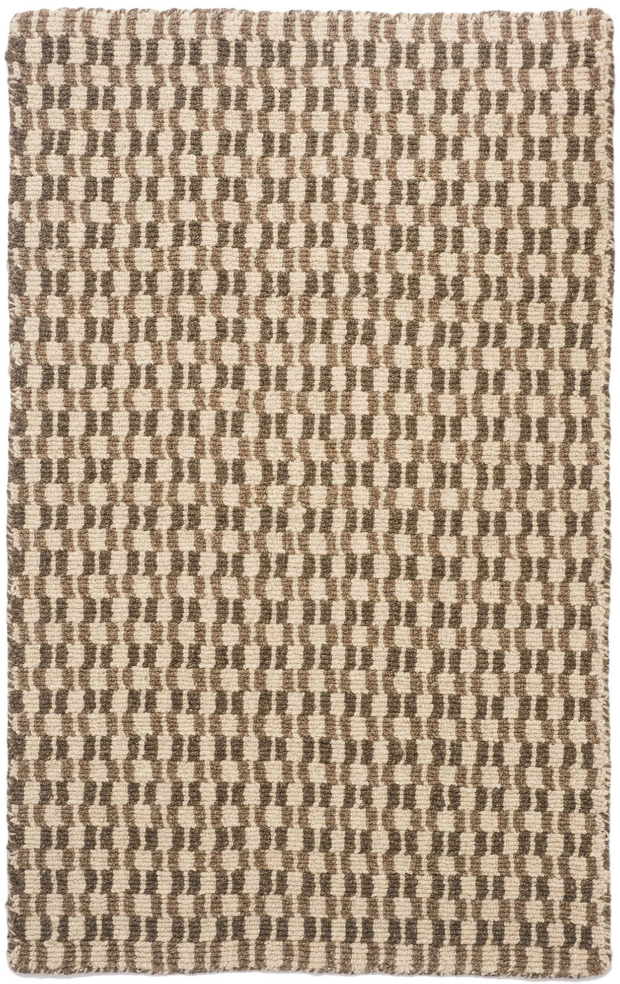 Devon Natural Wool Loom Hooked Rug