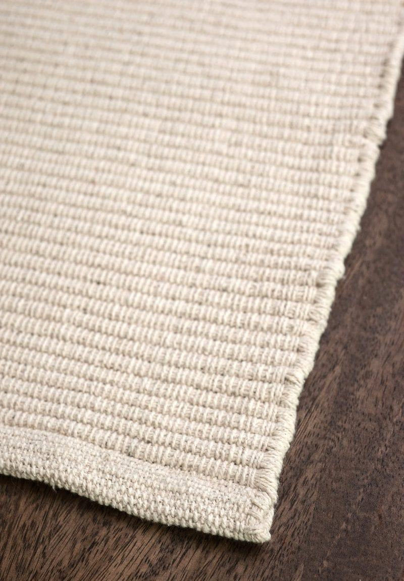Solid Natural Flatweave Eco Cotton Rug