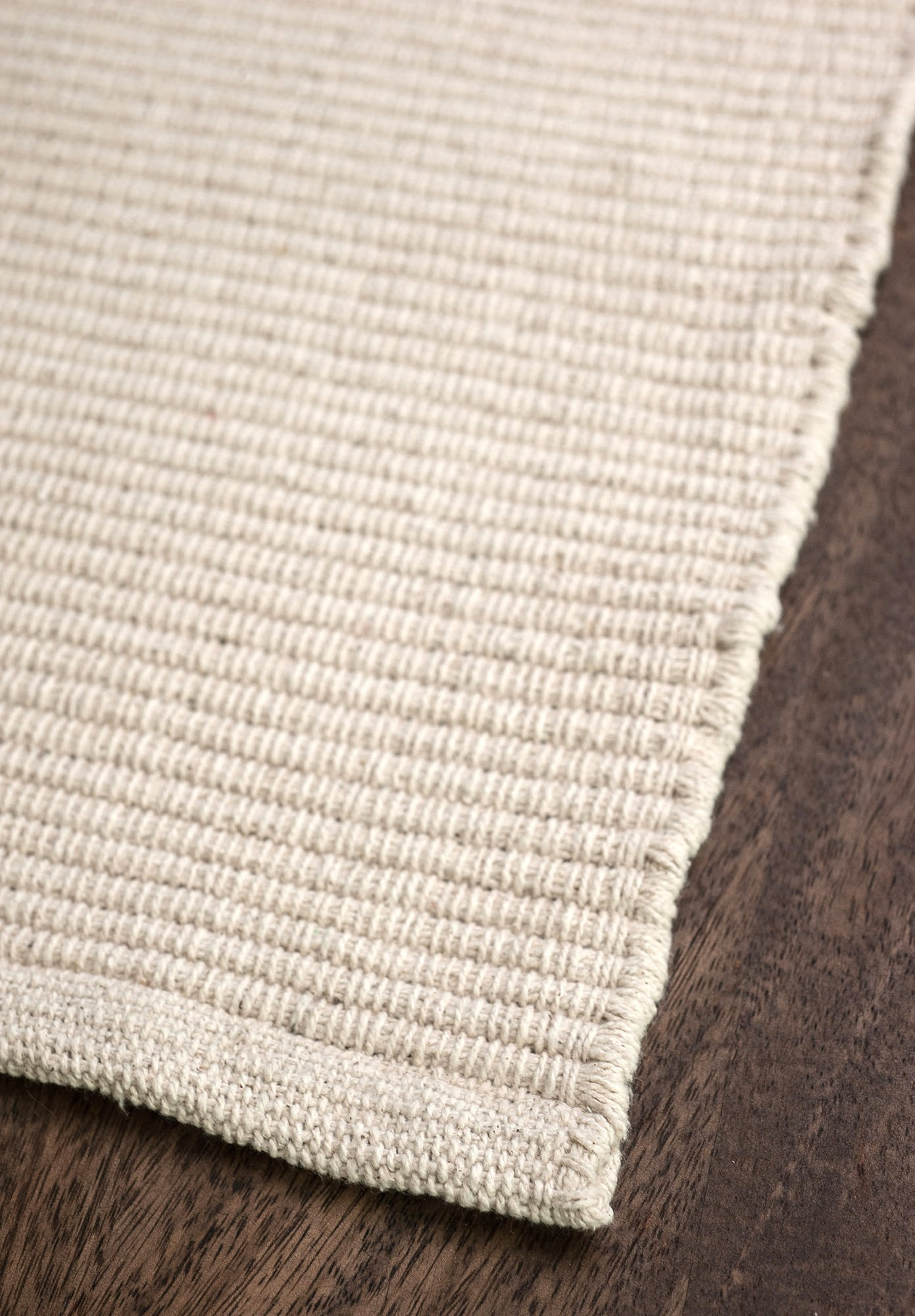 Solid Natural Flatweave Eco Cotton Rug 1