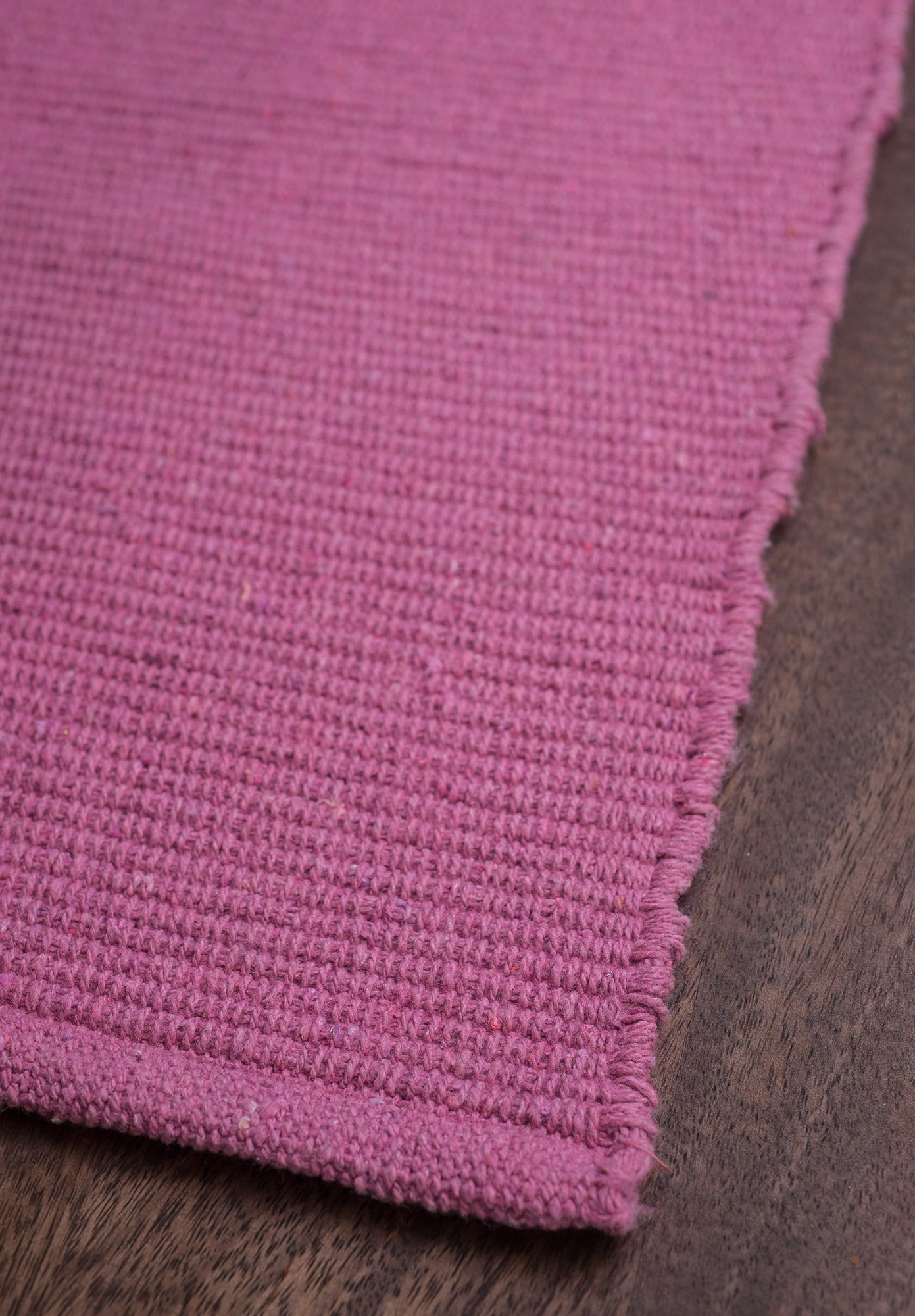 Solid Bright Pink Flatweave Eco Cotton Rug Hook Amp Loom