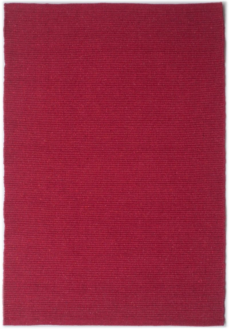 Solid Bright Red Flatweave Eco Cotton Rug Hook Amp Loom