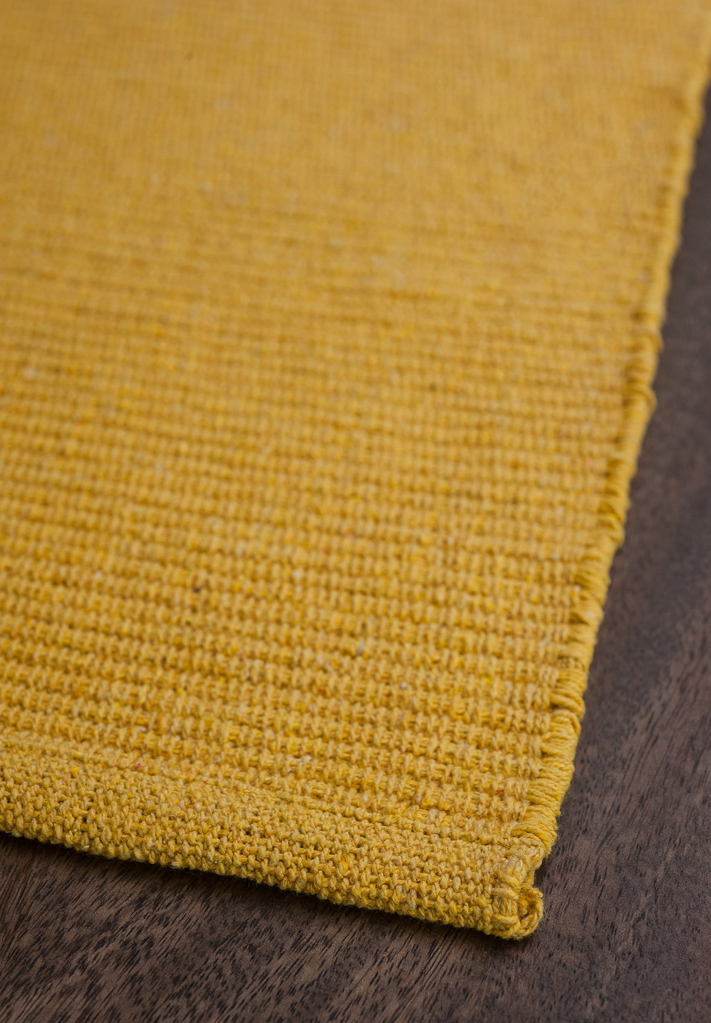 Solid Yellow Flatweave Eco Cotton Rug Hook Amp Loom