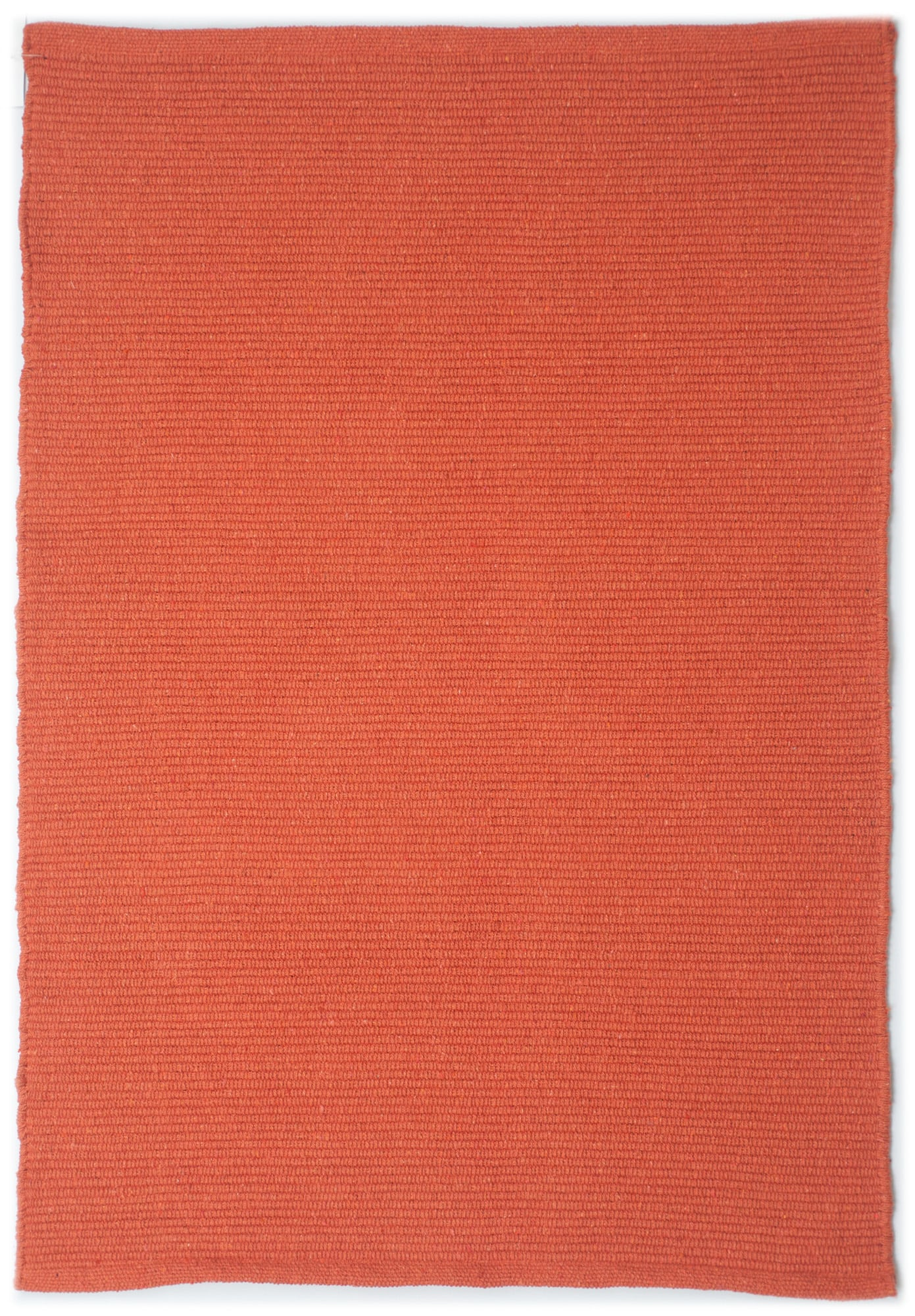 Solid Orange Flatweave Eco Cotton Rug Hook Loom