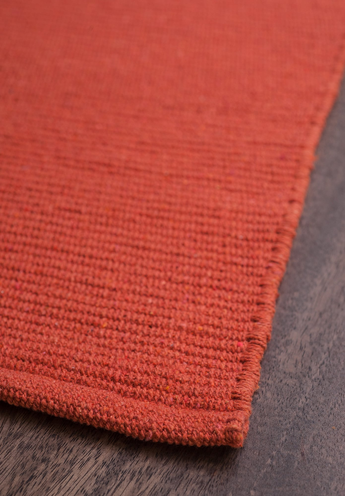 Solid Orange Flatweave Eco Cotton Rug Hook Amp Loom