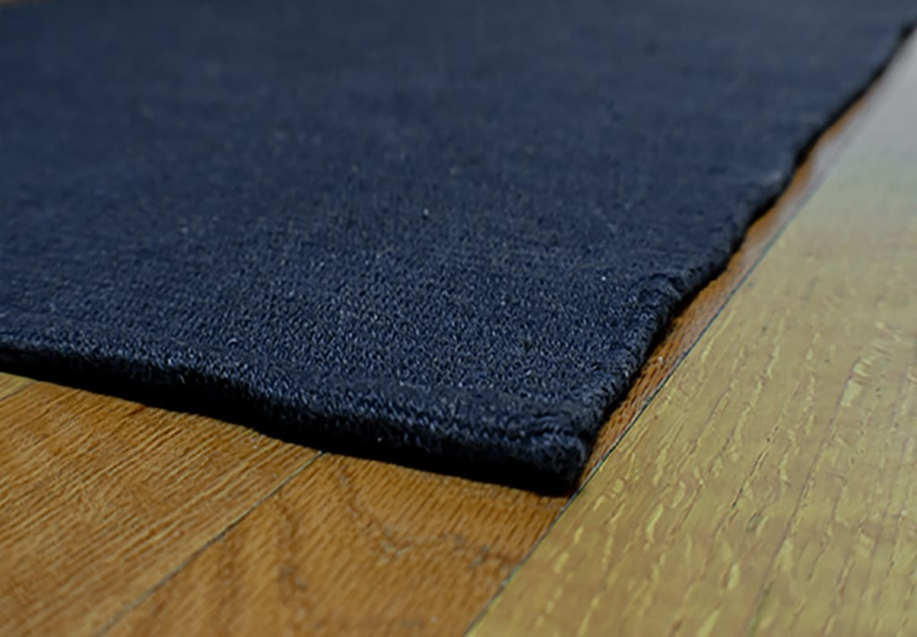 Solid Navy Blue Flatweave Eco Cotton Rug Hook Amp Loom