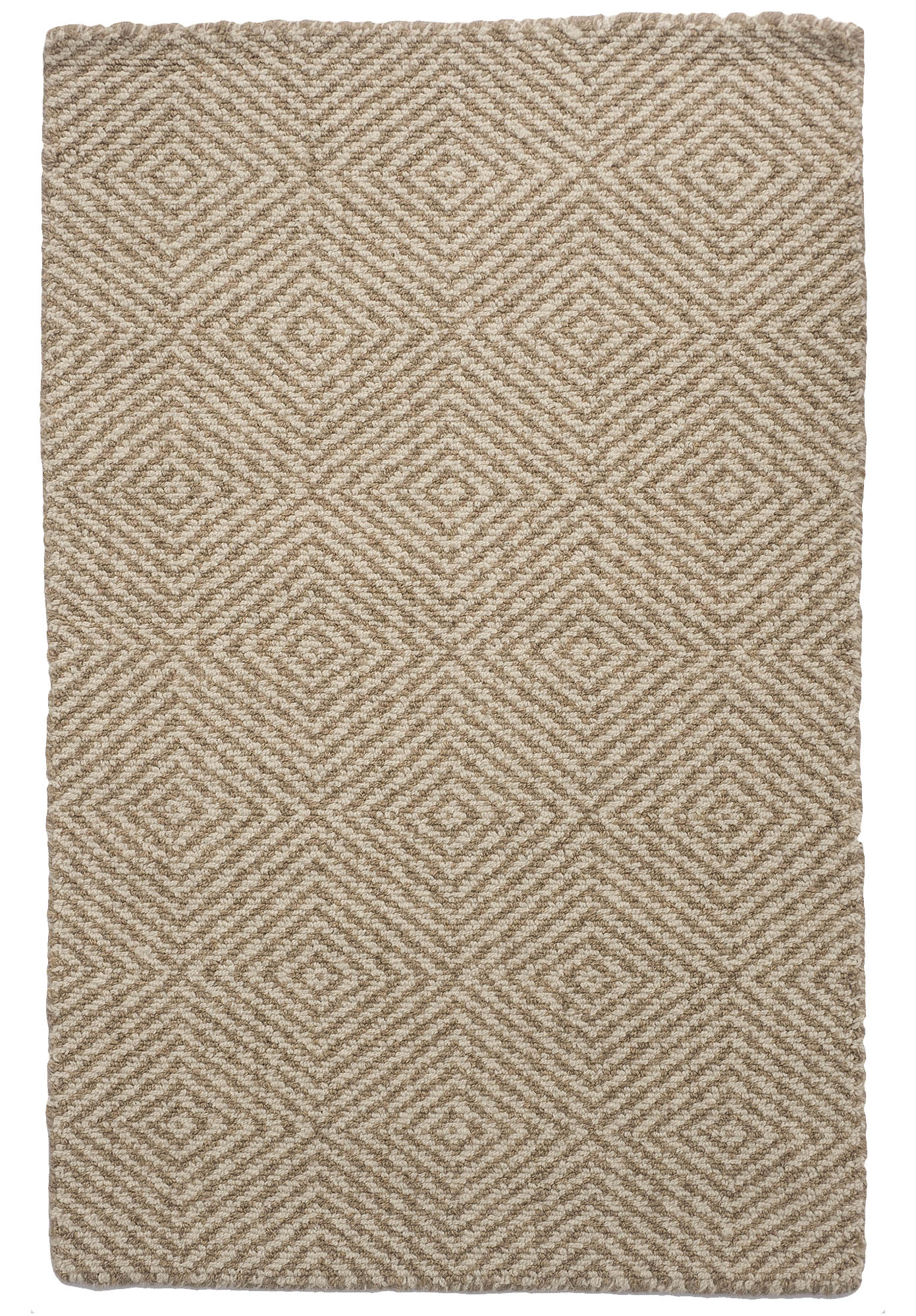 Kensington Wool Taupe Natural Loom Hooked Rug