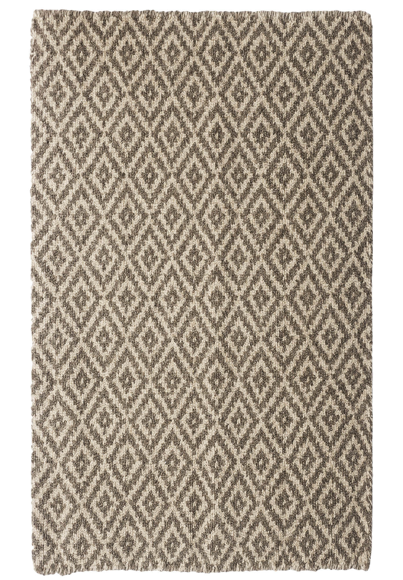 Leicester Natural Wool Loom Hooked Rug