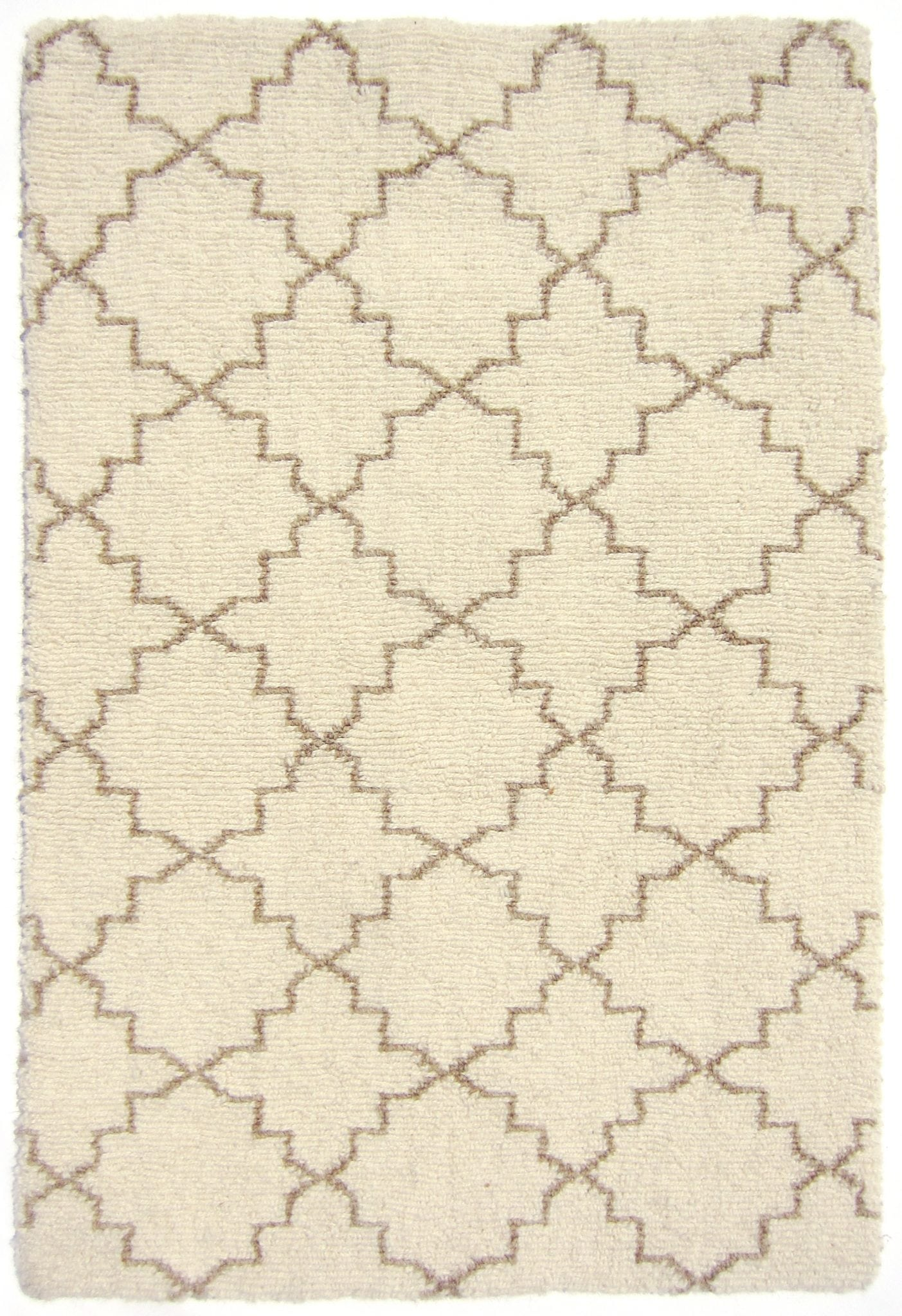 initial ivory trellis and hicks geometric rug