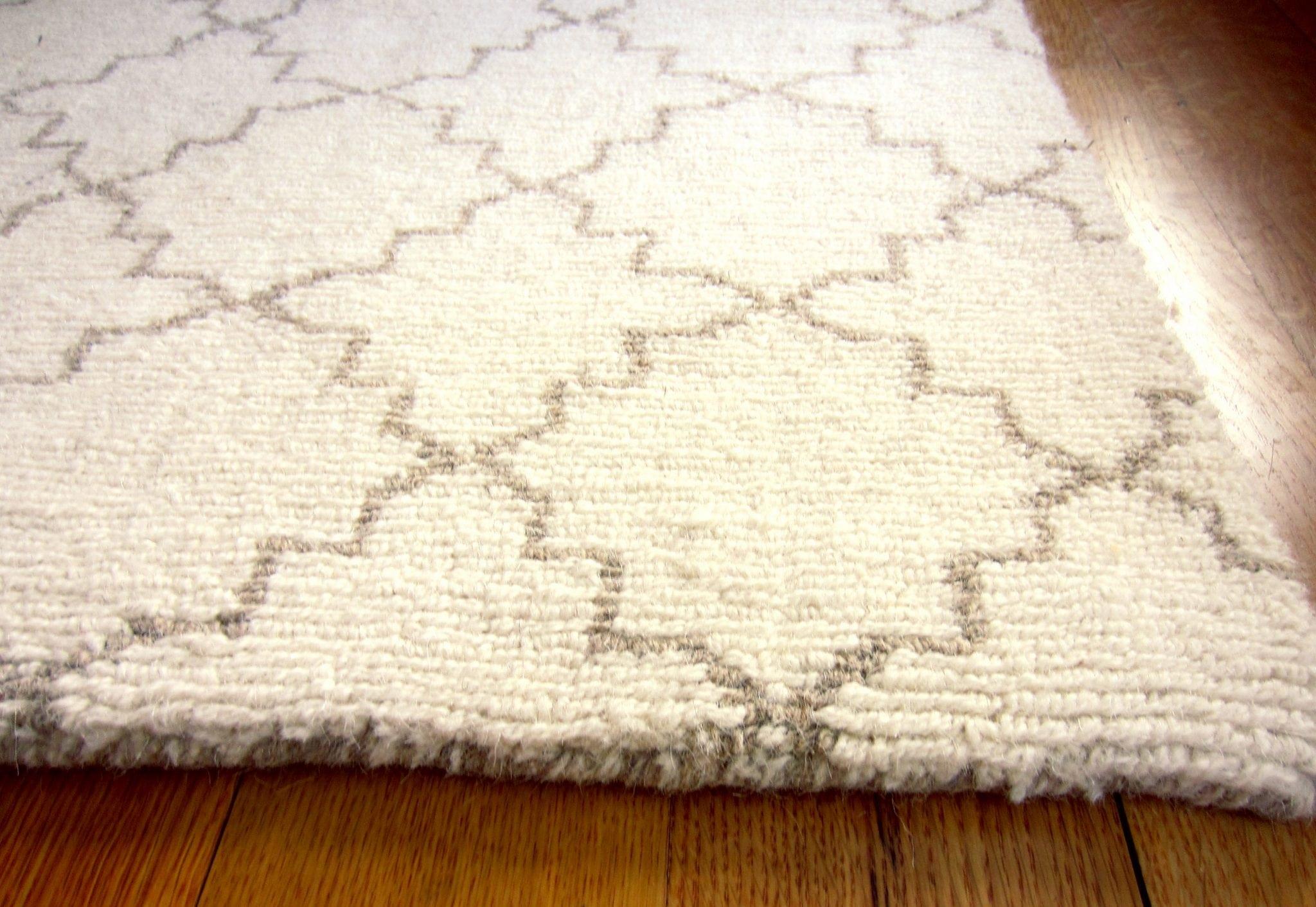 moroccan trellis natural taupe wool loom hooked rug hook loom