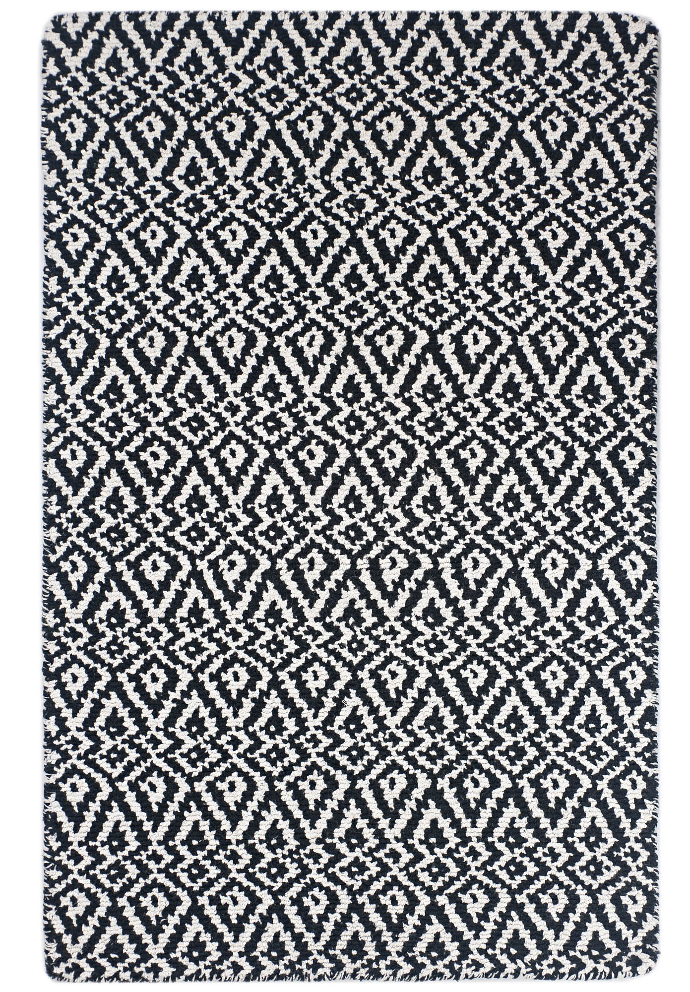 Picture of: Oslo Black And White Eco Cotton Loom Hooked Rug Hook Loom