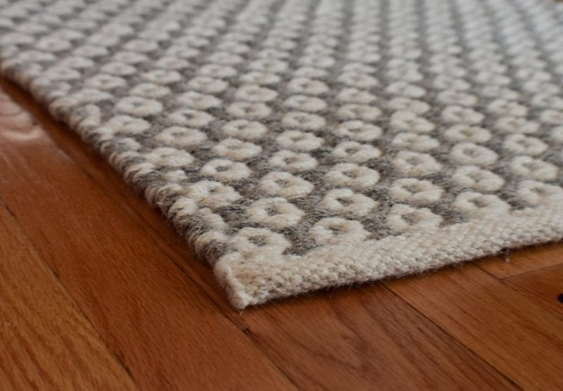 Perth Grey Natural Wool Woven Rug Hook Loom