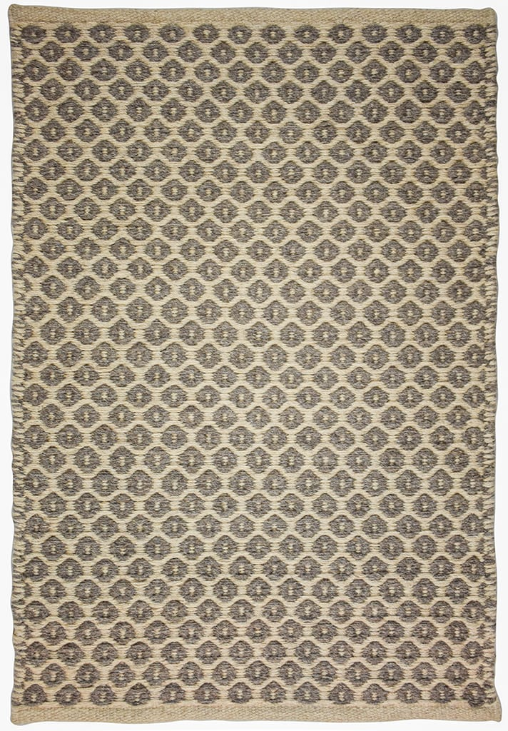 Perth Taupe Grey Natural Wool Woven Rug Hook Loom