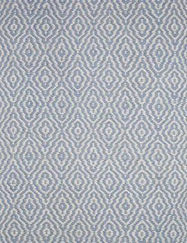 Savannah Eco Cotton Rug Light Blue And White Hook Amp Loom