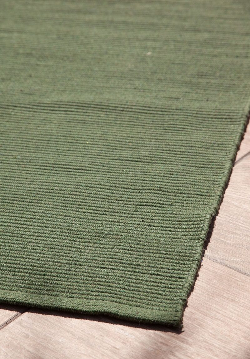 Solid Hunter Green Flatweave Eco Cotton Rug Hook Amp Loom