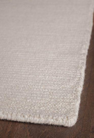 Natural Wool Loom Hooked Rug Solid Natural Hook Amp Loom