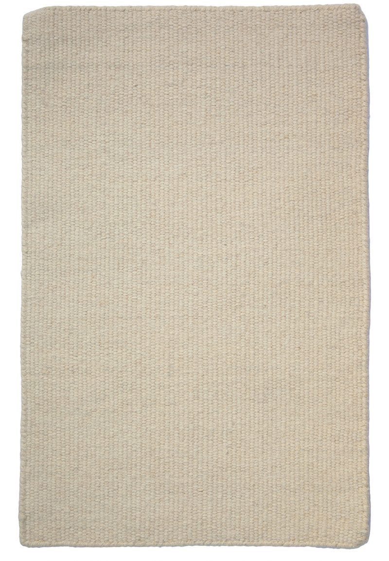 Thick Woven Wool Rug Solid Natural Hook Amp Loom